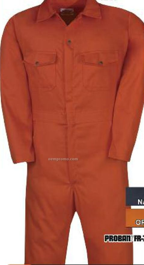 "8.5 Oz. Proban Fr-7a 100% Cotton Coverall (38"" To 50"" Waist)"