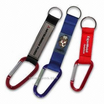Polyester And Nylon Lanyard W/Carabiners