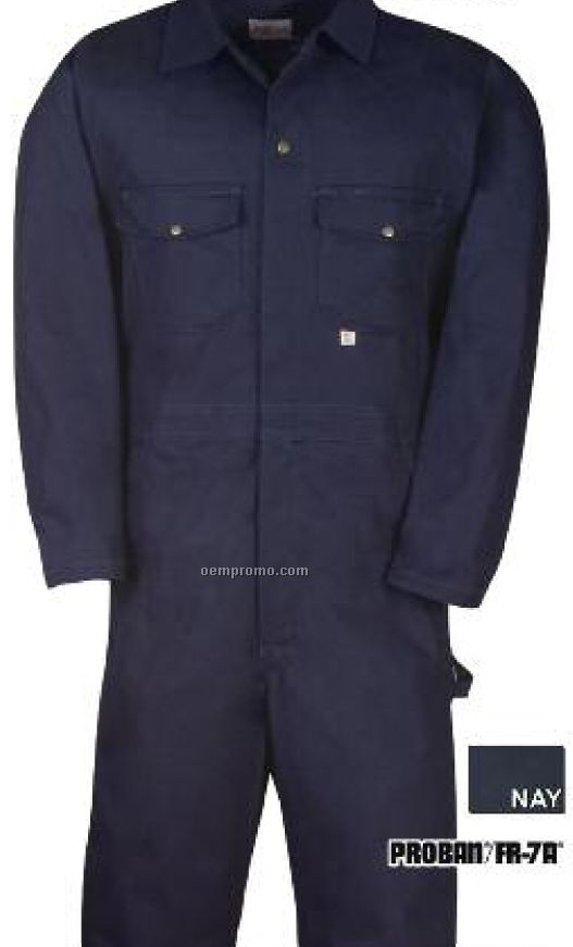 "11 Oz. Proban Fr-7a Whipcord 100% Cotton Coverall (38"" To 50"" Waist)"