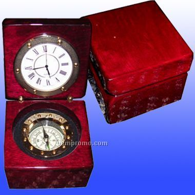 Captain`s Box W/Clock And Compass (Screen)