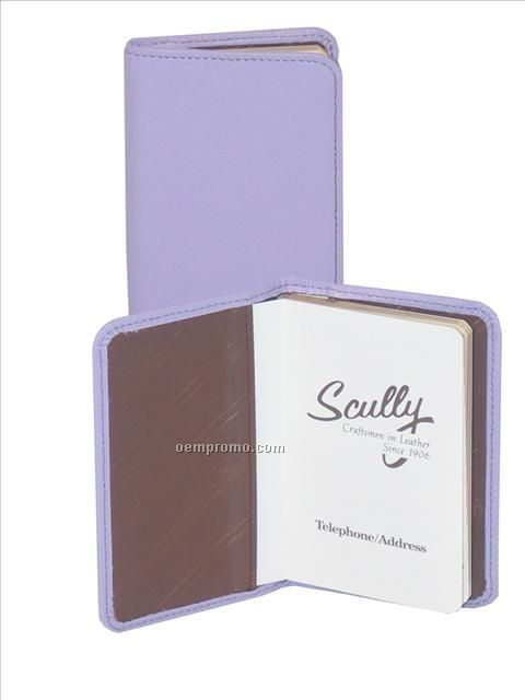 Pink Soft Lamb Leather Personal Telephone/ Address Book