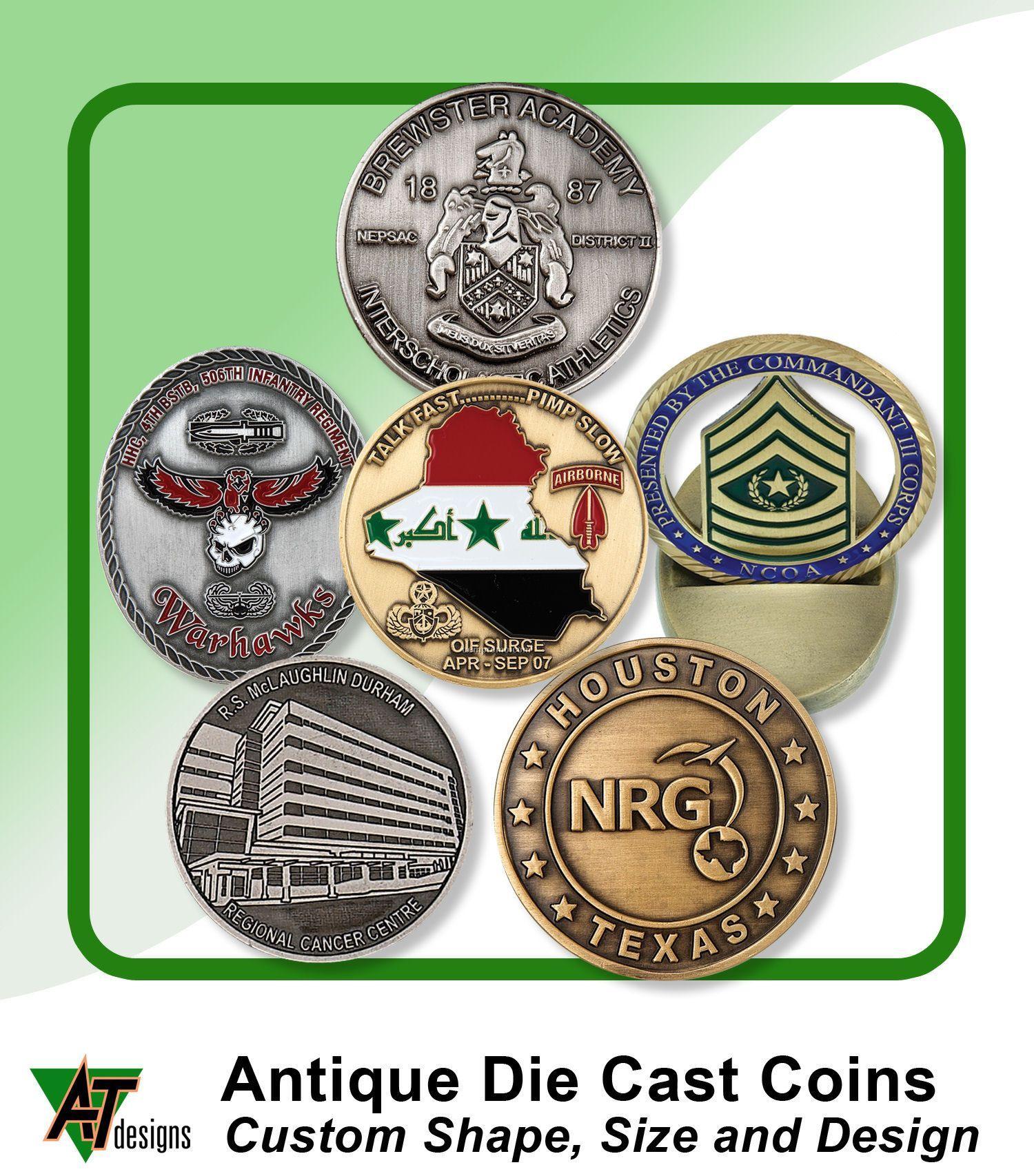 """1-3/4"""" Antique Coin"""