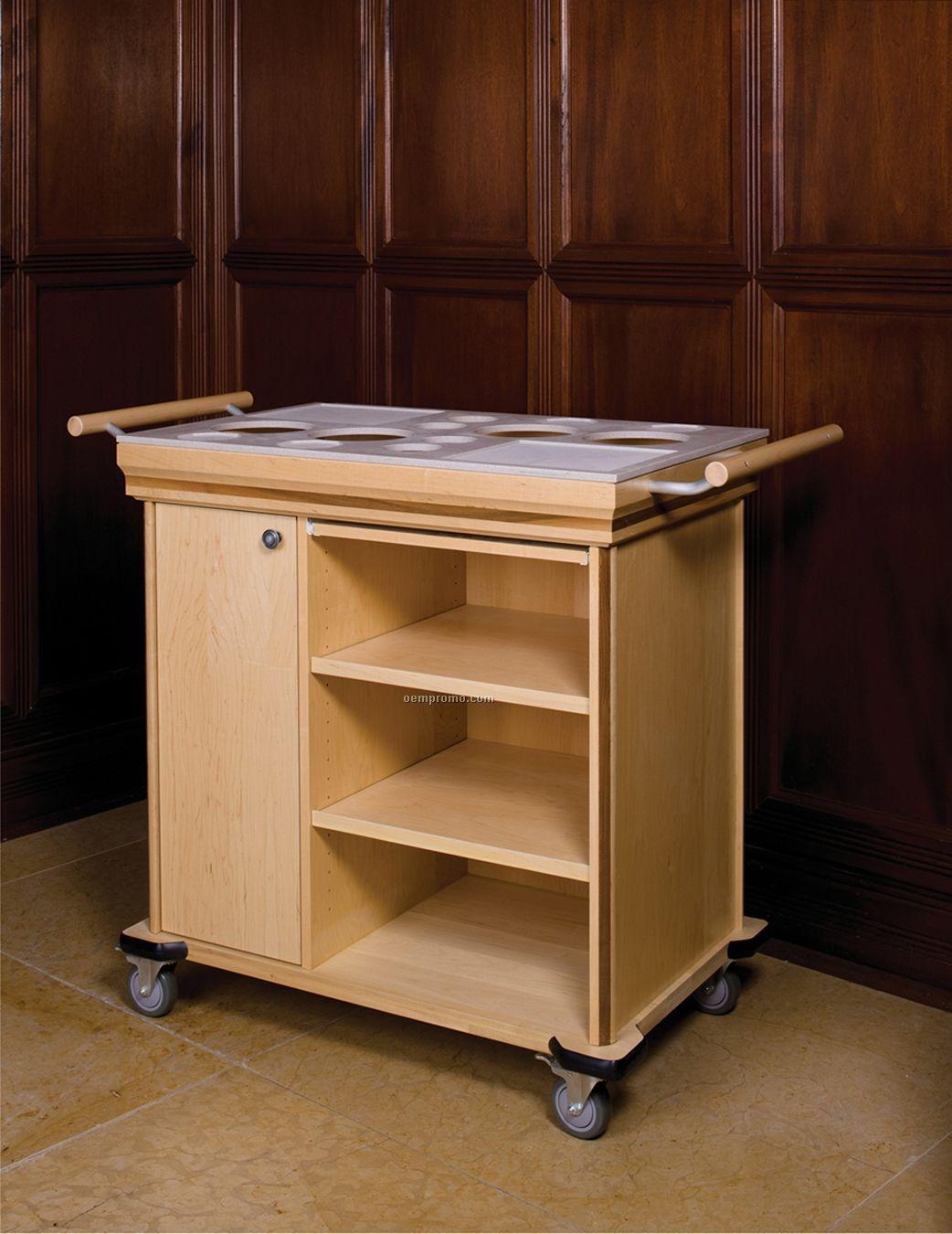 Cart Maple Wood Base Lyptus 3 Shelf China Wholesale Cart