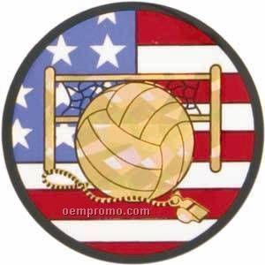 "Flag Hologram Mylar Insert - 2"" Volleyball"