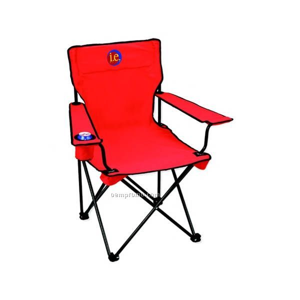 Folding Chair With Can Holder