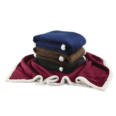 Garnet Country Lambswool Throw Blanket