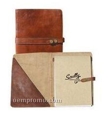 Mahogany Italian Leather Letter Pad Holder