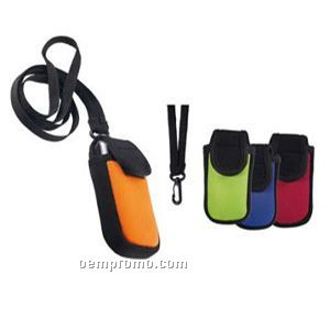 Mobile Phone & Mp4 Sleeve With Lanyard