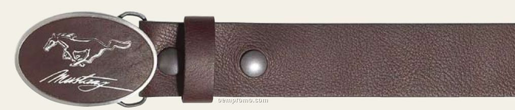 Solid Pewter W/ Genuine Leather Belt