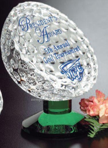 "Sports Gallery Fairway Crystal Award (5 1/4"")"