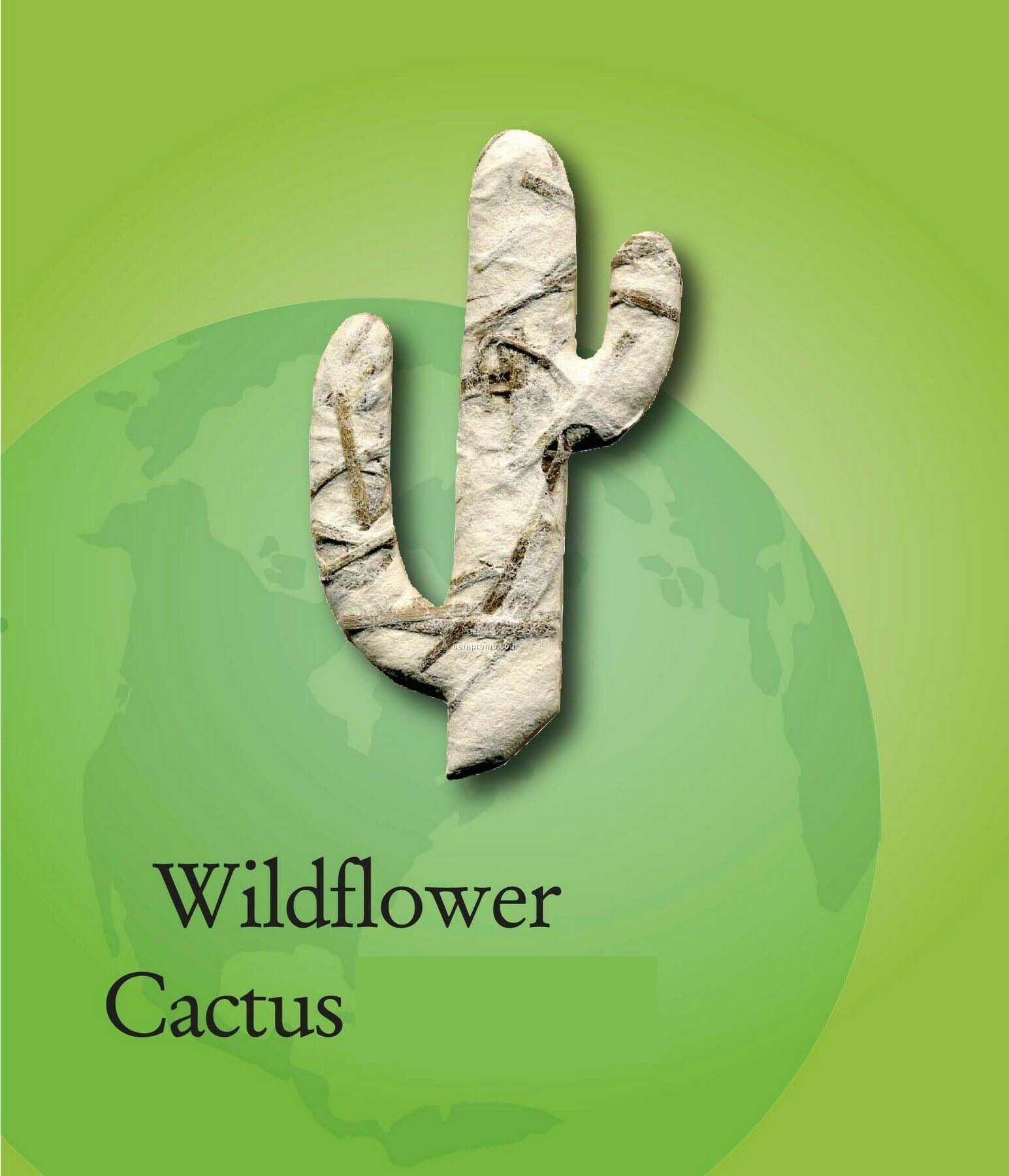 Wildflower Cactus Handmade Seed Plantable Mini