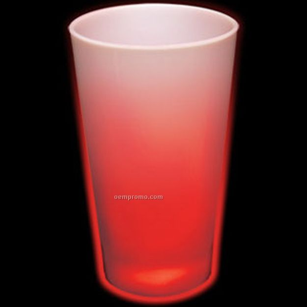 16 Oz. Neon Red Light Up Pint Glass