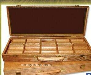 500 Piece Poker Chip Set W/ Oak Case