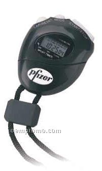 """Black Stop Watch W/Alarm, Time & Day Display (2-3/8""""X3""""X1-3/16"""")"""