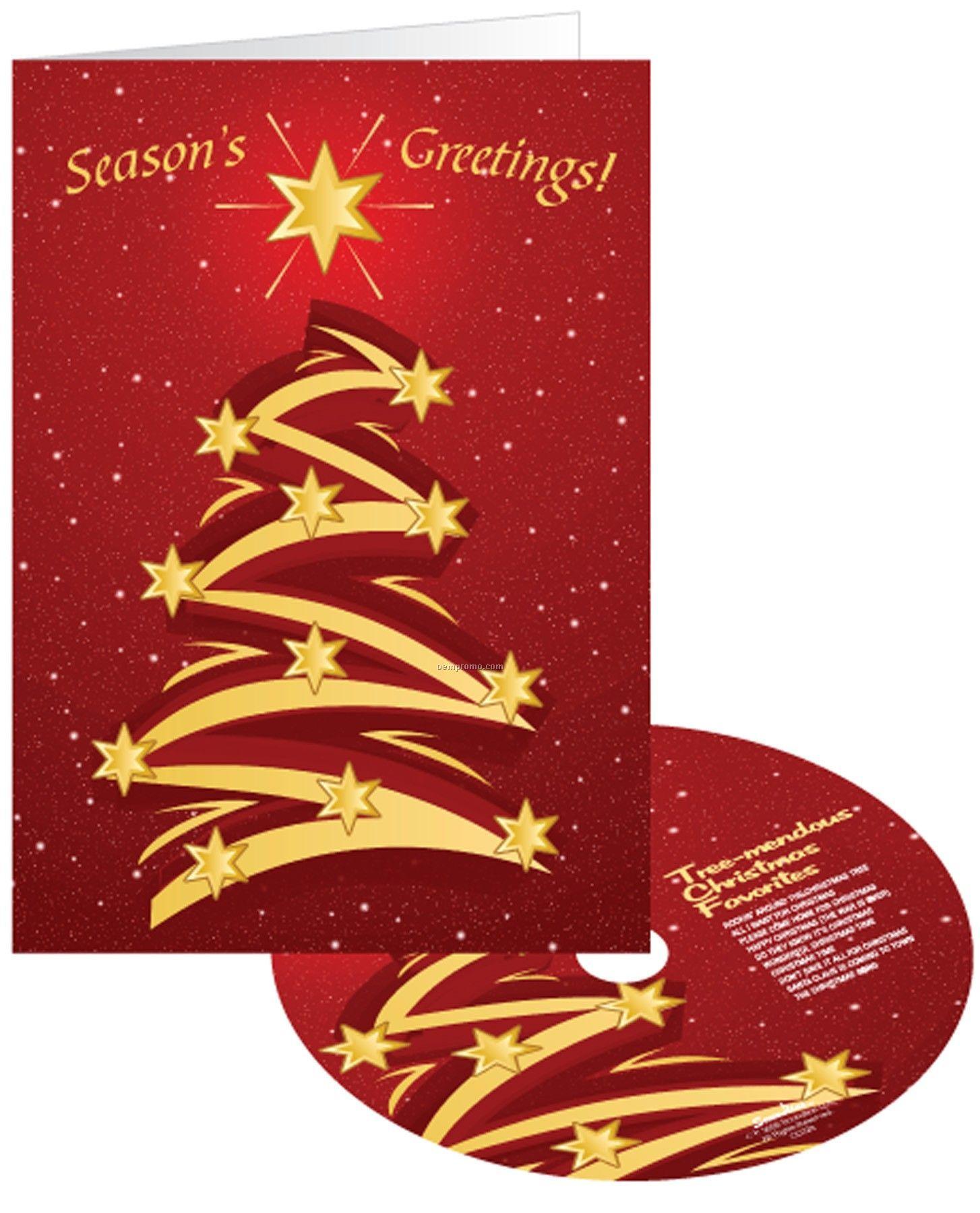 Creative Christmas Tree Holiday Greeting Card With Matching Cdchina