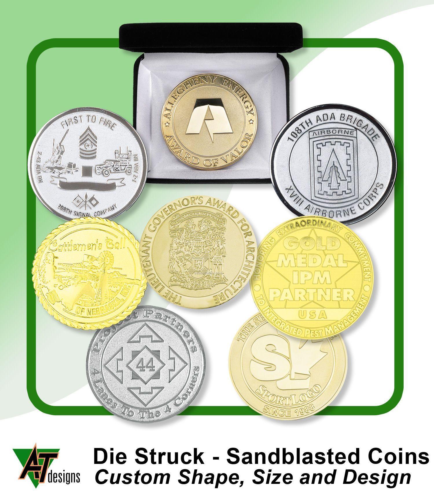 """Die Struck Coins 1-3/4"""""""