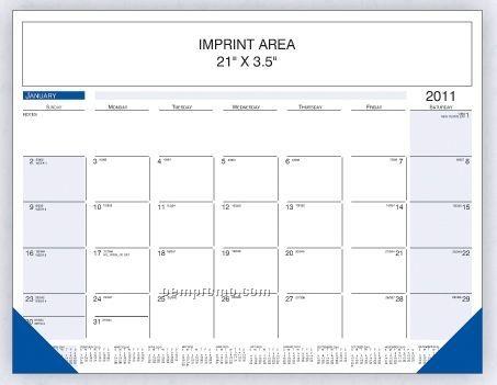 Black / Blue Desk Calendar (Order By 8/31)