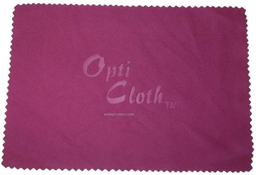 """Deluxe 3.5"""" X 5"""" Wine Color Opticloth With Debossed Imprint"""