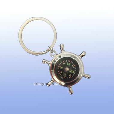 Key Ring W/A Wheel Compass (Screened)