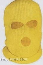 Safety Yellow High Visibility Balaclava Style Knit Hat