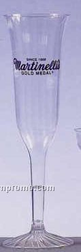 5 Oz. Fluted 2-piece Plastic Disposable Champagne Flute