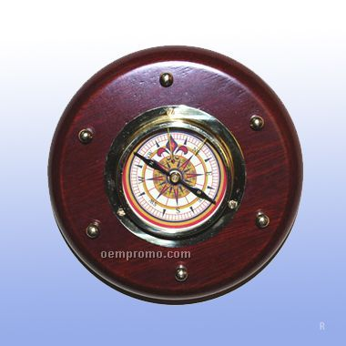 Brass Compass On Wooden Mount (Screened)
