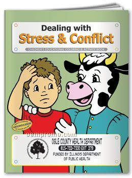 Coloring Book-dealing W/Stress And Conflict
