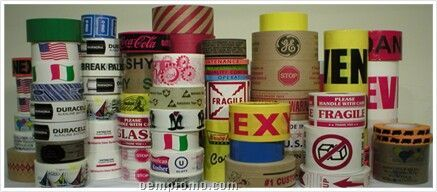 Custom Printed Reinforced Gummed Kraft Tape (250 Industrial Grade)