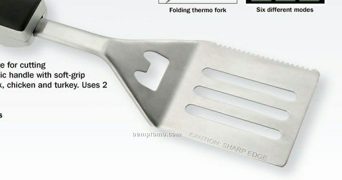 Multi-function Barbecue Spatula W/ Digital Cooking Thermometer On Handle