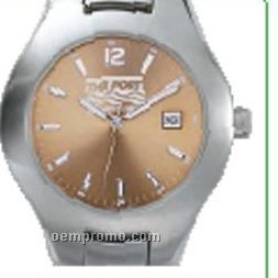 Pedre Men's Contempo Metal Watch W/ Stainless Steel Bracelet