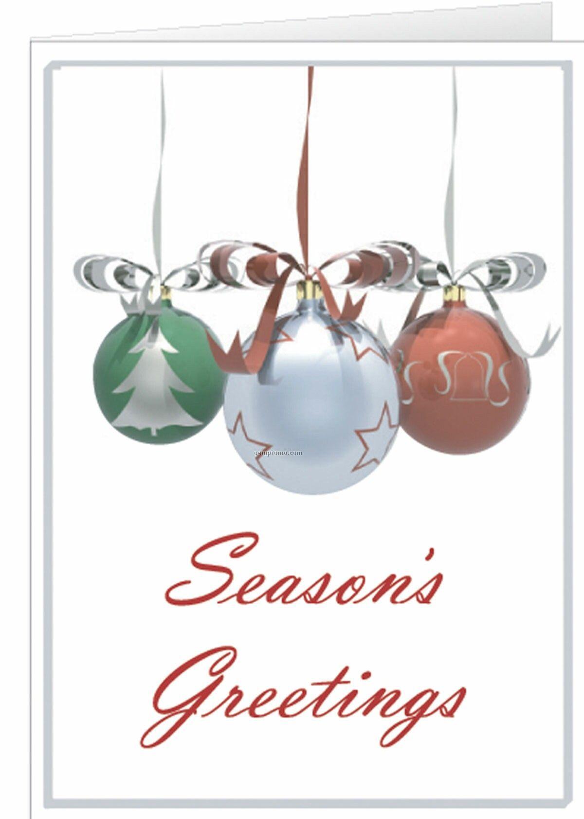 Three ornaments seasons greetings cardchina wholesale three three ornaments seasons greetings card m4hsunfo