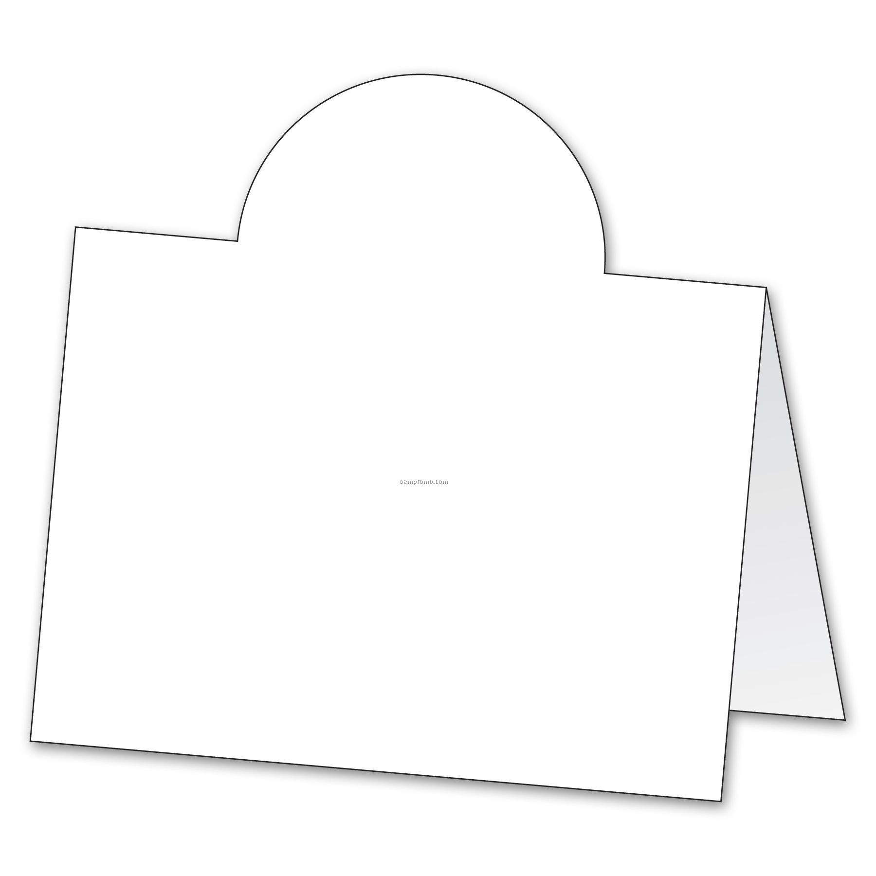 Folded paper stock 2 sided tent card 4 1 16 x4 china for Double sided name tent template