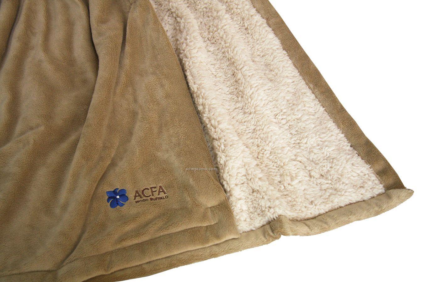 Mocha Alpaca Home Throw Blanket