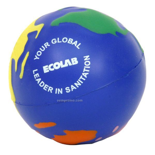 Multi-colored Earthball Squeeze Toy