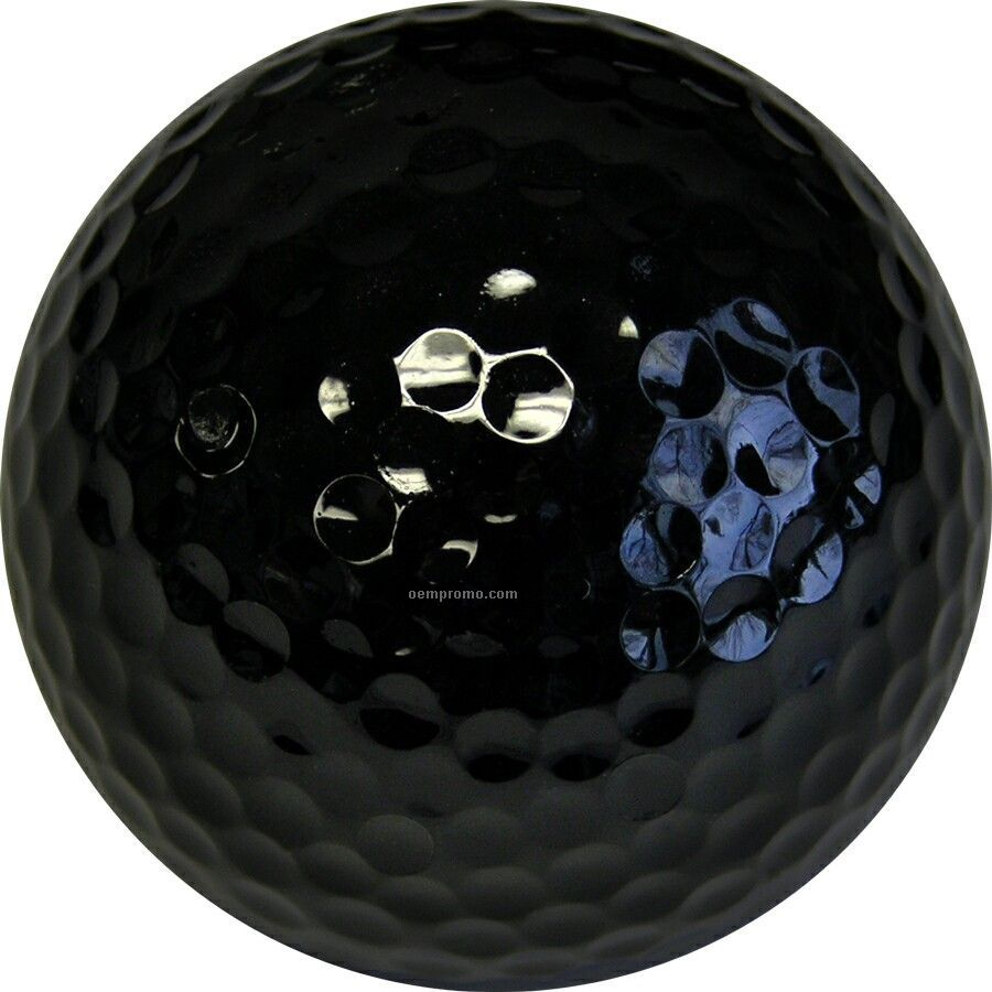 Black Golf Balls (2 Color/Clear 3 Ball Sleeves)