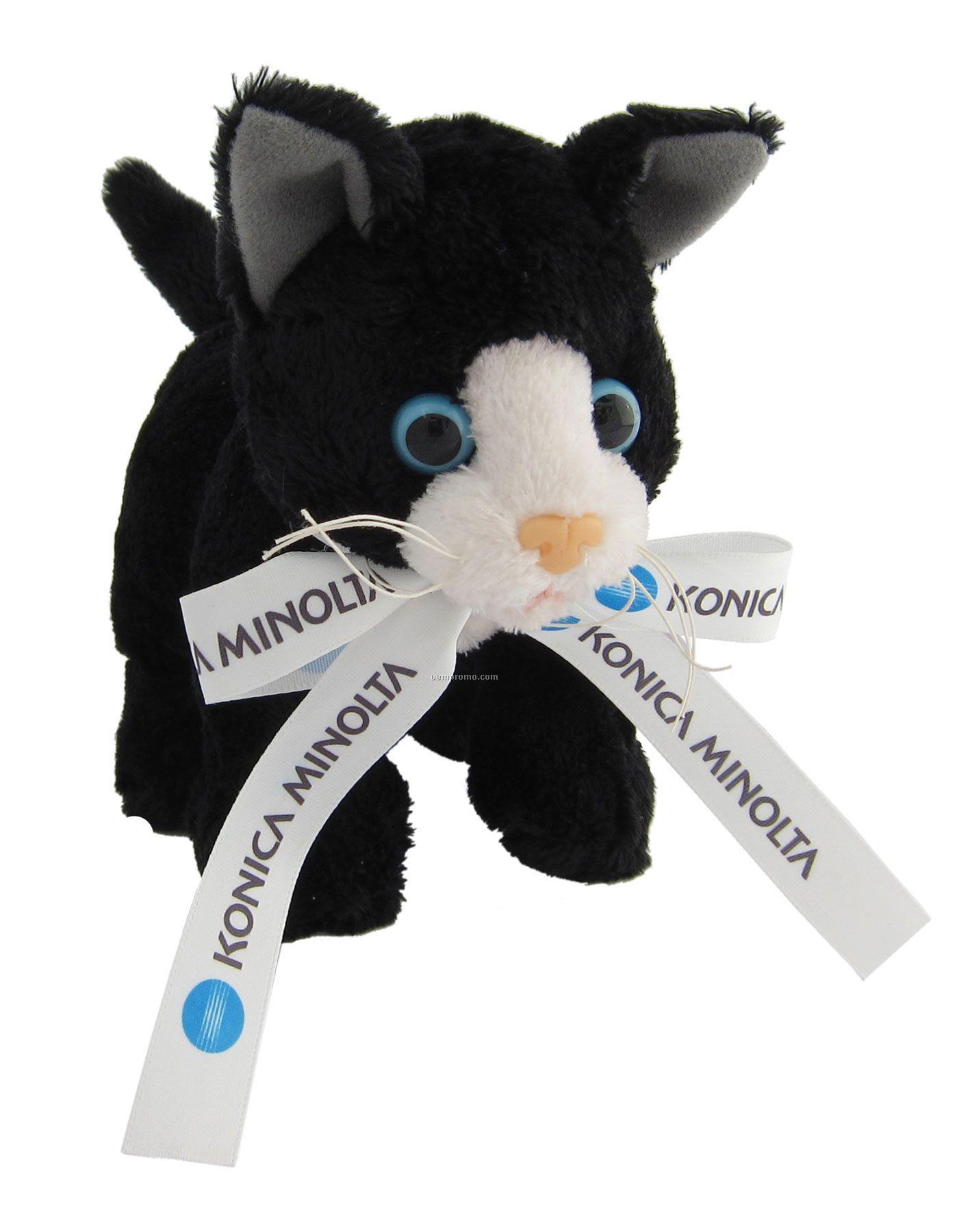 "Plush Kitty With Ribbon (6"")"