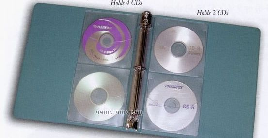 Vinyl Loose-leaf CD Pages (Holds 2 Cd's)