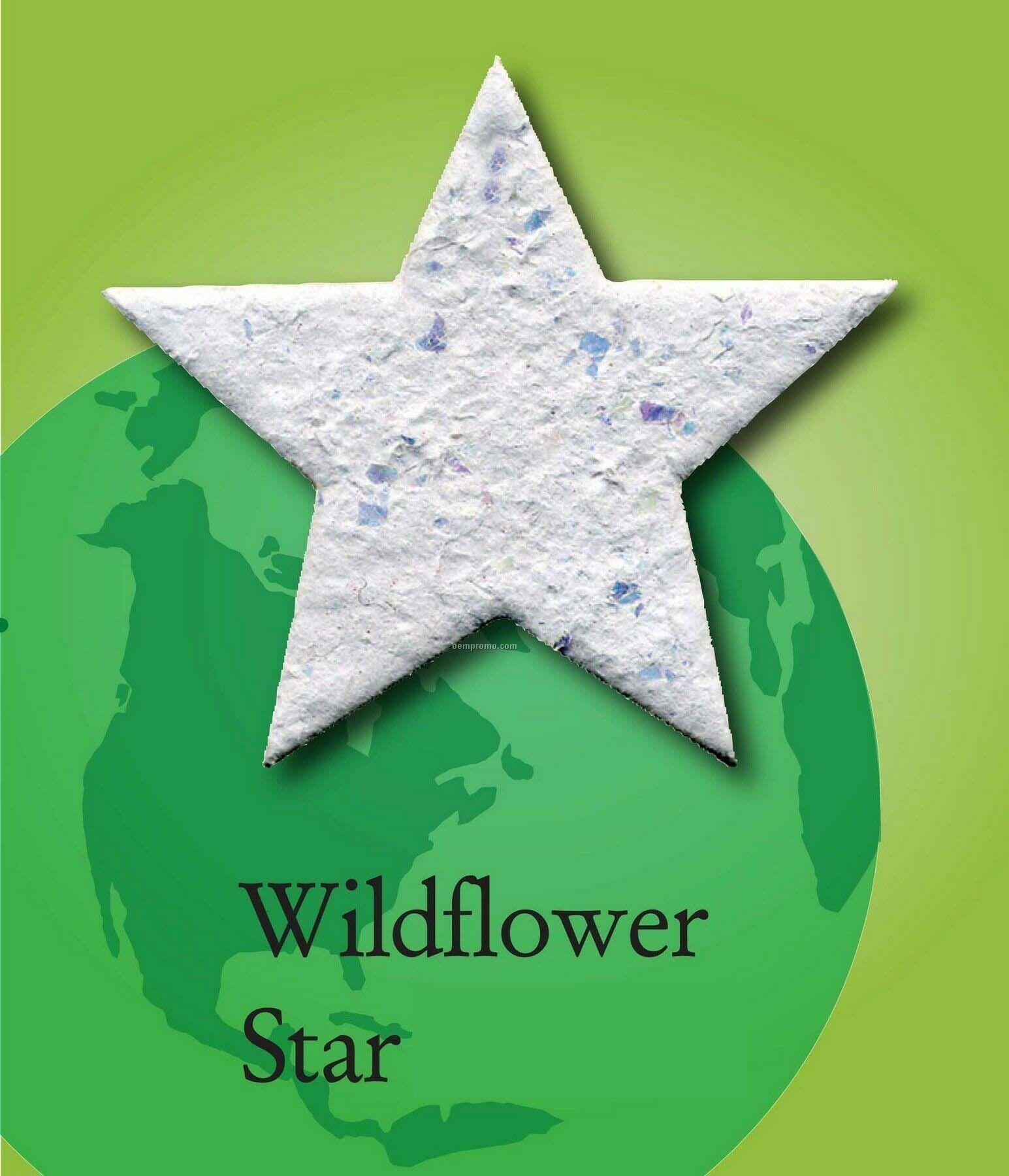 Wildflower Star Handmade Seed Plantable Mini
