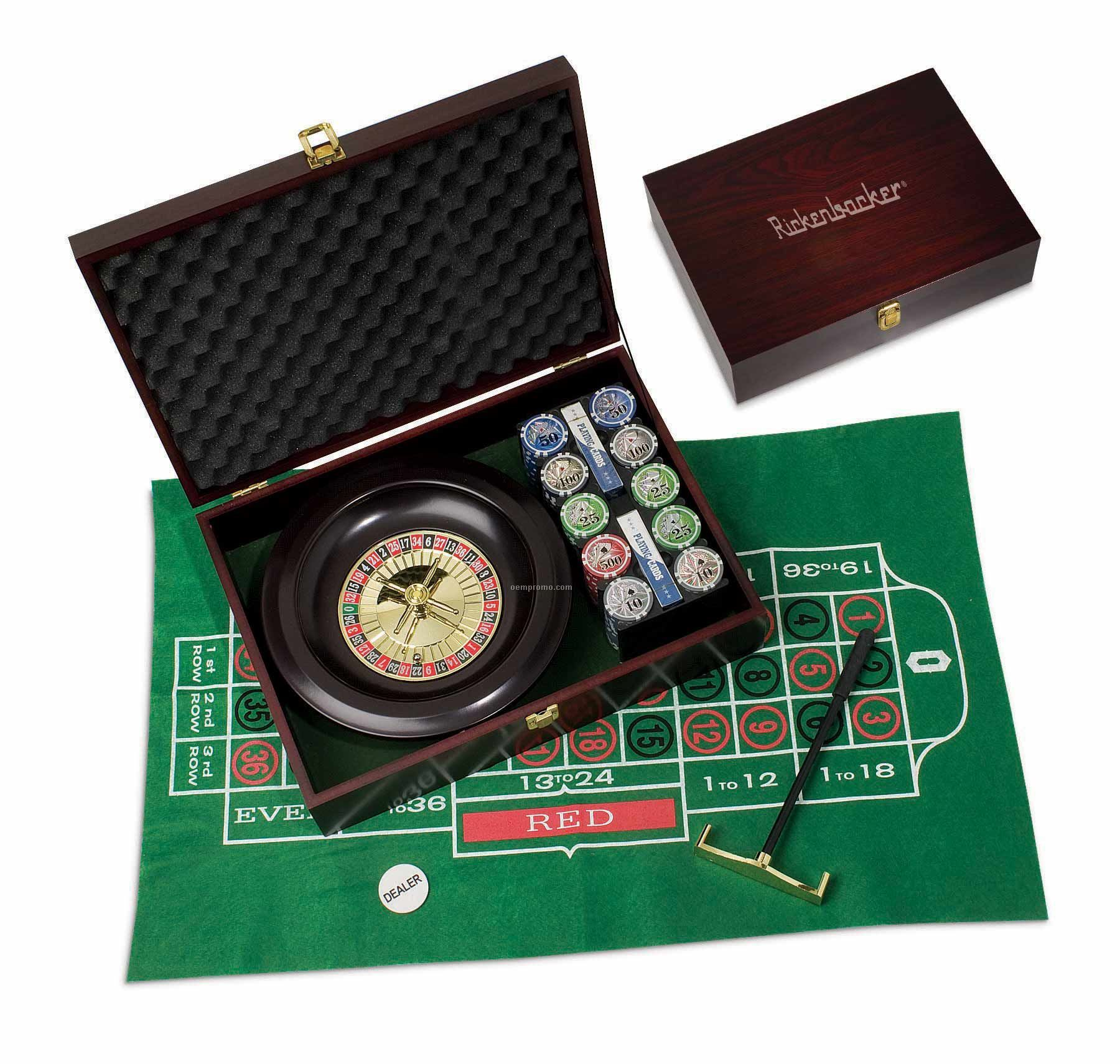 200 Piece Roulette/ Poker Set With 3d Professional Chips