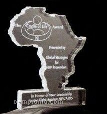 Acrylic Paperweight Up To 25 Square Inches / Africa
