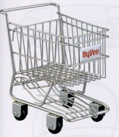 Chrome Plated Mini Shopping Cart