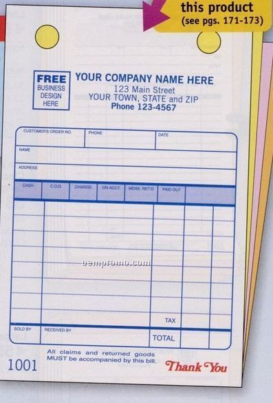 """Classic Collection Register Form - 4 Part (4""""X6"""")"""