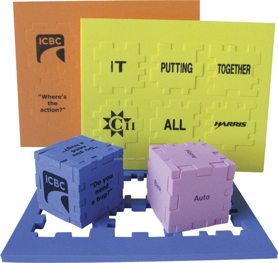 """Foam Desktop Puzzle Cube - Solid Color (1 1/2"""")"""