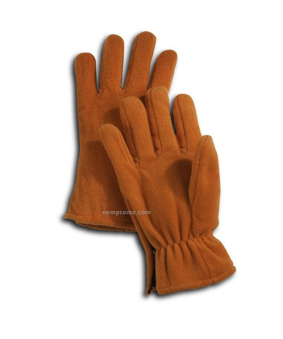 Wolfmark Orange Fleece Zip Glove