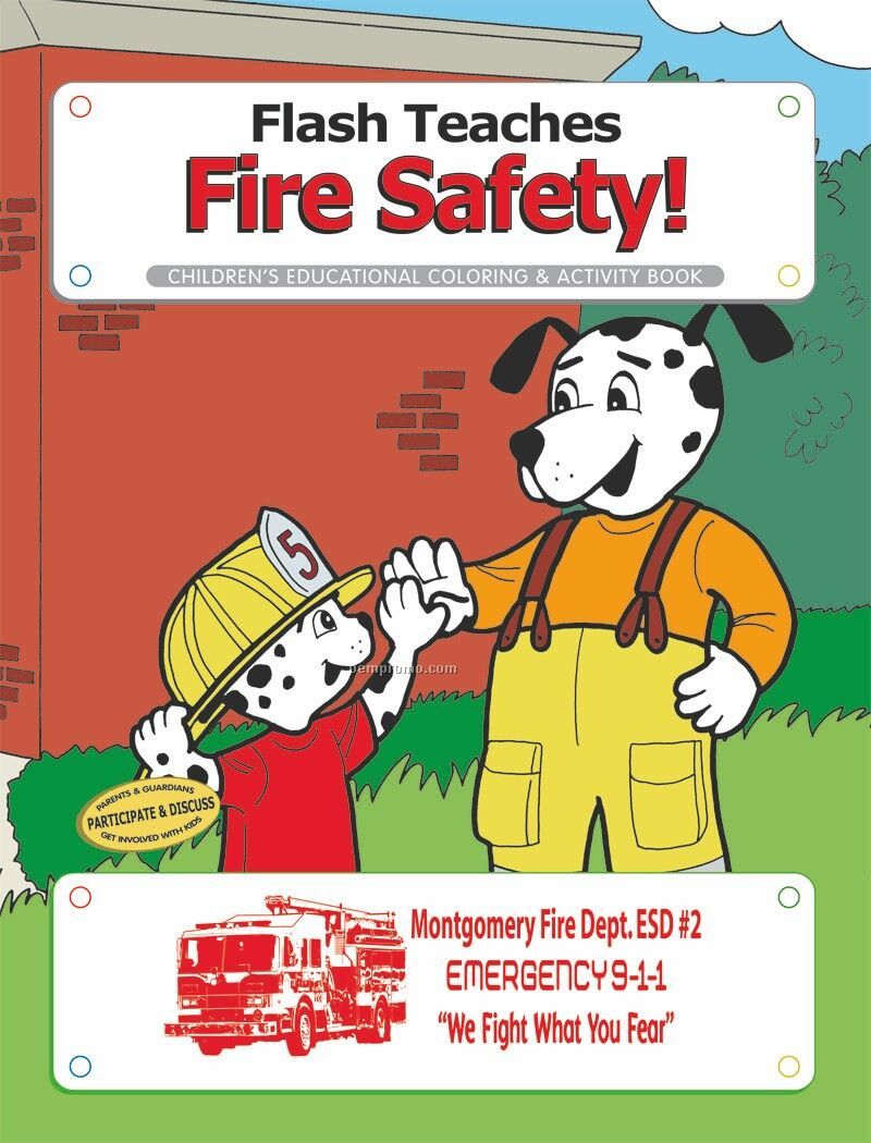 Coloring Book - Flash Fire Safety Dog