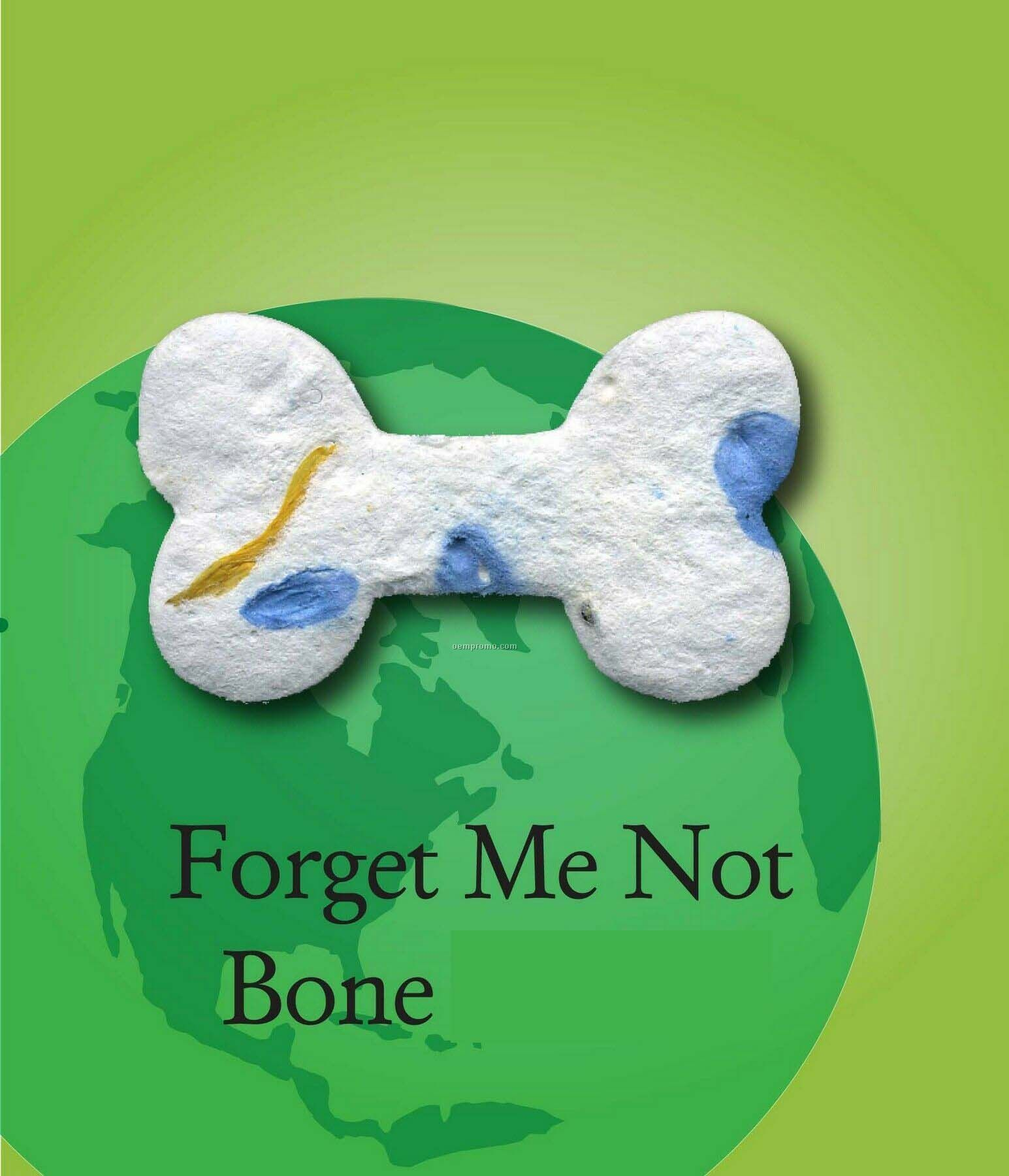 Forget Me Not Dog Bone Handmade Seed Plantable Mini