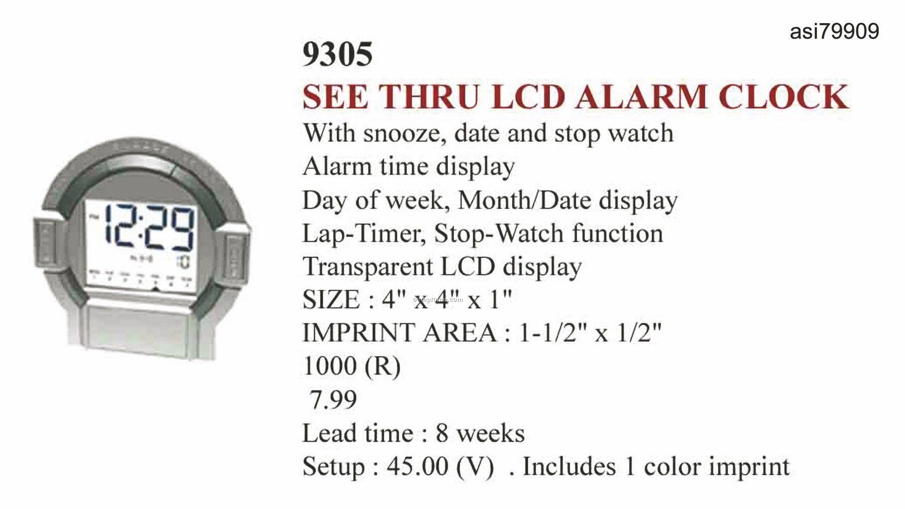 See Thru Lcd Alarm Clock
