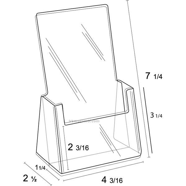 Single Pocket Counter Top Brochure Holder