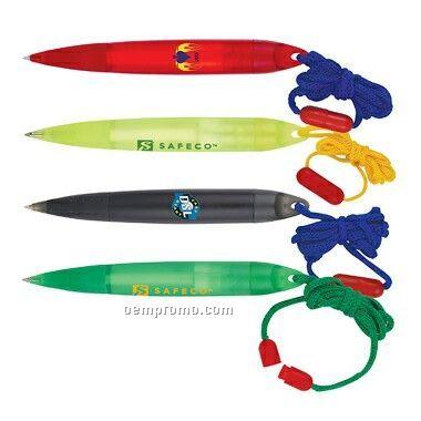 Ballpoint Pen W/ Neck Lanyard