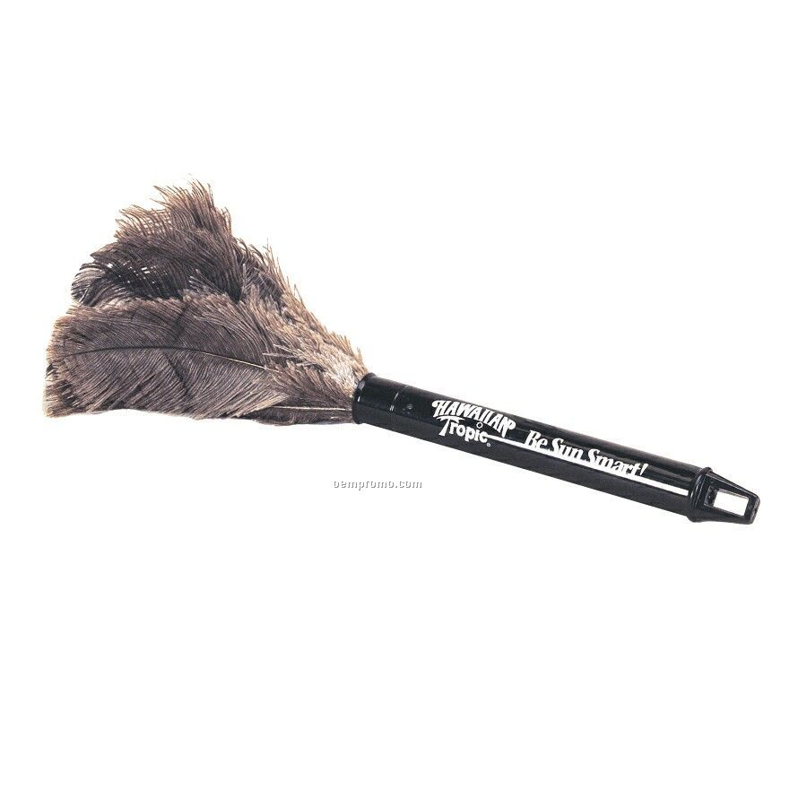 Ostrich Feather Duster With Retractable Black Tube
